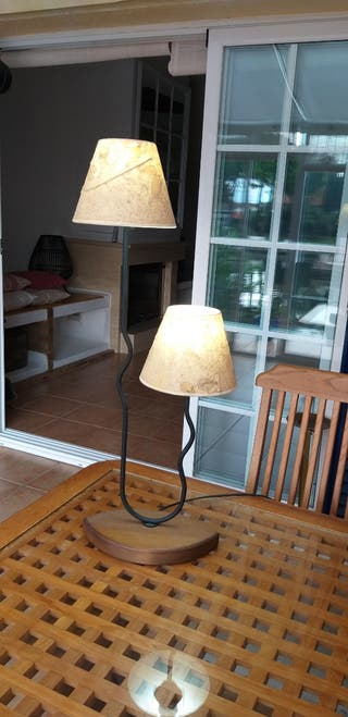 Lámpara doble