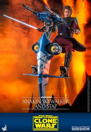 Hot toys Anakin with stap Clone wars 1/6