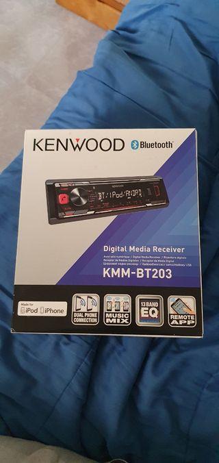 Radio coche Bluetooth Kenwood KMM-BT203