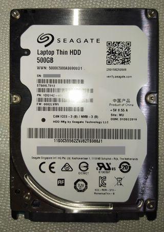 DISCO DURO SEAGATE 500GB THIN (ST500LT012)