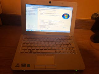 Netbook Sony 250GB disco Windows 7
