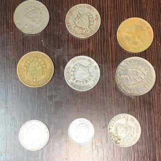 Lote 9 pesos ,monedas de cuba