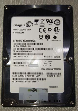 DISCO DURO SEAGATE 500GB (ST9500530NS) 7200RPM