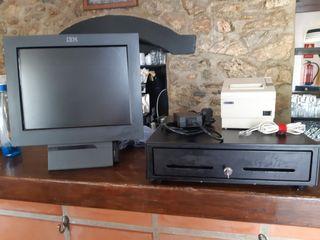 TPV táctil, impresora y cajón