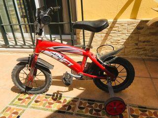 """Bici de 12"""""""" con un solo ruedin"""