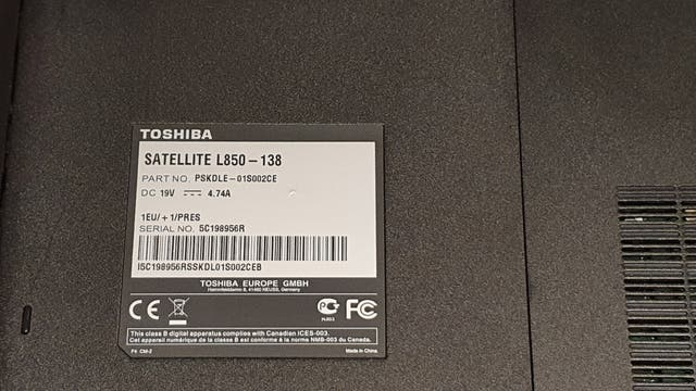 Toshiba Satellite L850-138