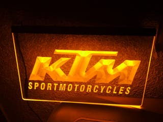 Cartel luminoso KTM Motorcycle Supermotorcycle