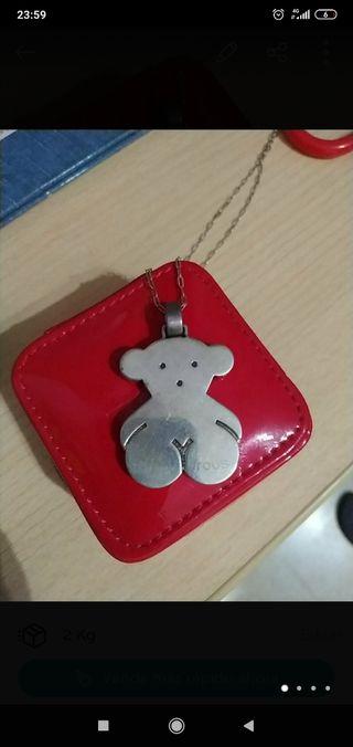 Collar plata oso tous