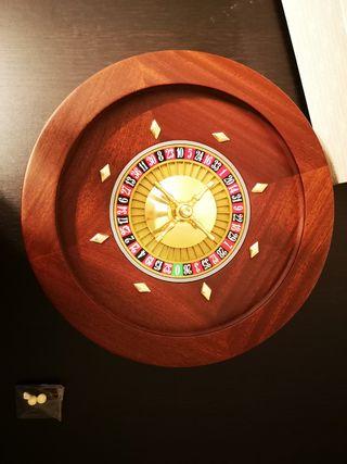 Ruleta Renzo Romagnoli dorada en caoba 36 cm