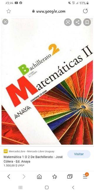 2°bachiller libro matemáticas