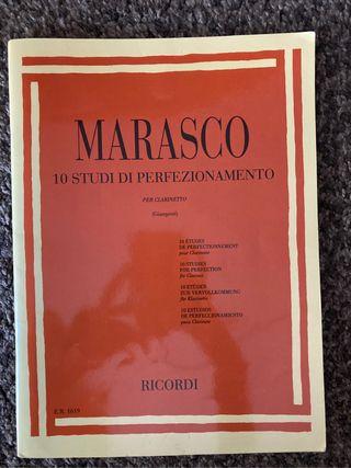 Libro de clarinete Marasco 10 estudios