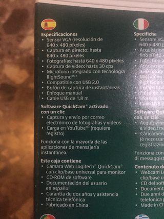 Camara Logitech Quickcam E2500