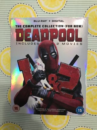 Pack collection DEADPOOL 1 y 2 BLU-RAY