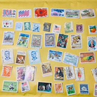 Lote 50 sellos USa, Italia