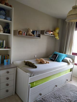 Habitación juvenil madera lacada blanco