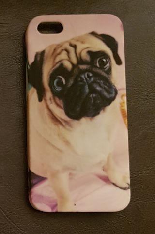 Funda con perro carlino para IPhone 5