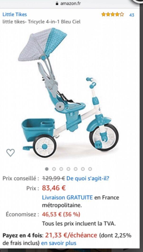 Tricycle enfant Little Tikes 4-in-1 Blue Ciel