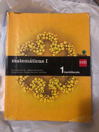 libro matemáticas primero bachillerato