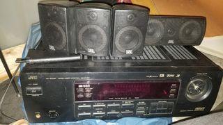 amplificador con altavoces jvc