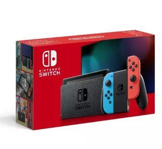 NUEVA Nintendo Switch, Azul y Rojo neon