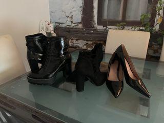 Botines y zapato de tacón