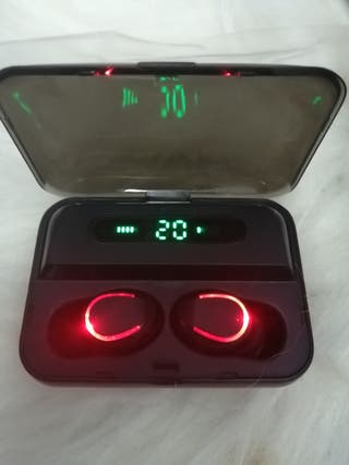 auriculares negros inalambricos no cable Bluetooth