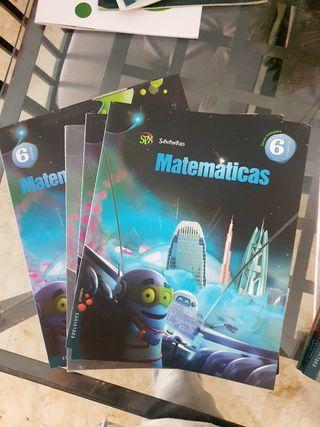 libros matematicas sexto primaria seminuevos