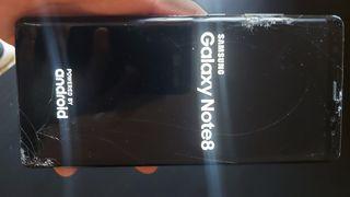 Samsung galaxy note 8 pantalla rota enciende