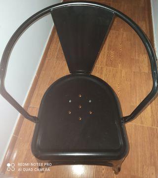 sillas retro negras
