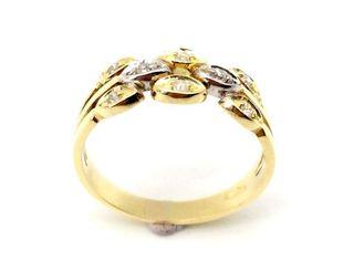 Anillo de oro primera ley 18k y diamantes