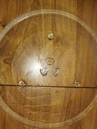 plato grande para microondas 30 cm circunferencia