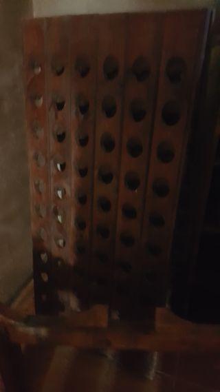 botellero madera macizo muy chulo