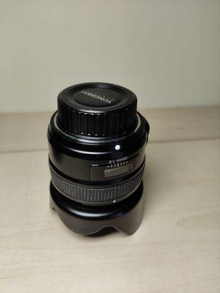 Younguo 35 mm f2 enfoque auto-manual