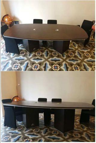 Mesa madera sala juntas (despacho de abogados)