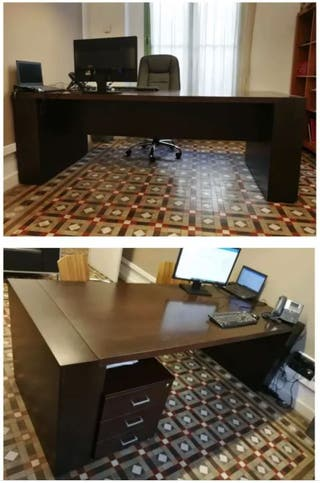Mesa oficina madera maciza (despacho abogados)