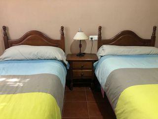 Dos camas de 90 y dos mesitas de noche