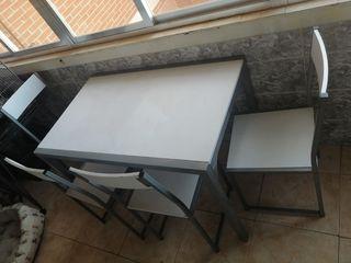 juego mesa + 4 sillas