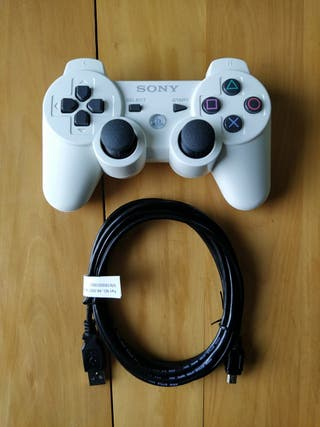 PS3 (Mando Blanco Original+Cable Cargador)