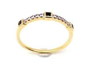 Anillo de oro 18k 10 diamantes y 3 esmeraldas