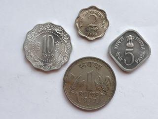 4 monedas India