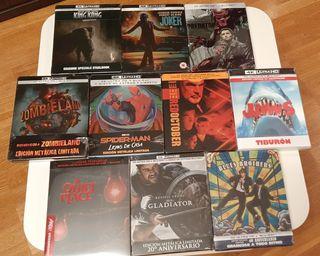 Lote 10 steelbooks 4K UHD blu-ray
