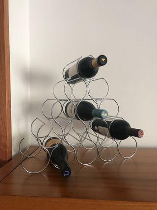 Botellero acero diseño. Para 15 botellas.