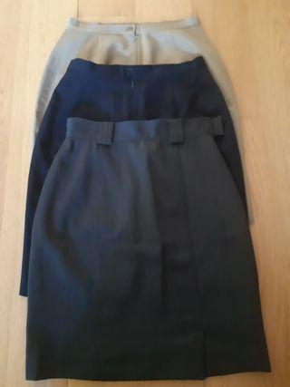 3 faldas de vestir talla 40-42