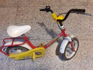 Bicicleta niño + freno delantero + freno de cadena