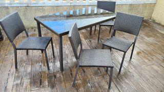 conjunto mesa y sillas jardin