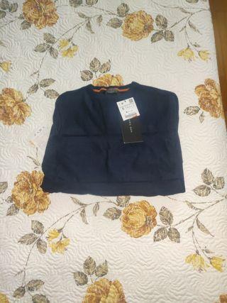 jersey hombre azul talla S Zara con etiqueta