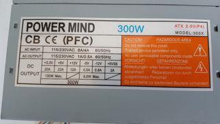 fuente 300w atx power mind