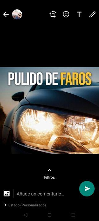 PULIR FAROS COCHES FURGONETAS CAMIONES MOTOS ITV G