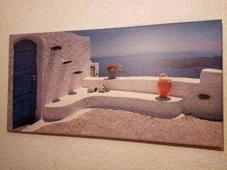 lienzo isla griega