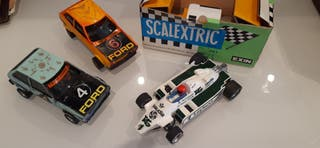 2 coches ford y 1 williams scalextric